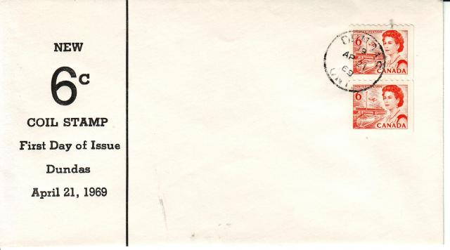 1967 - 6c Orange - Dundas