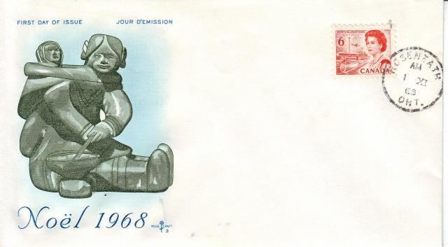 1967 - 6c Orange - Eskimo - Mother and child single
