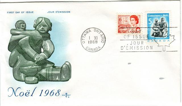 1967 - 6c Orange - Eskimo - Mother and child