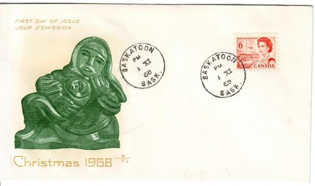 1967 - 6c Orange - Inuit - Mother and child