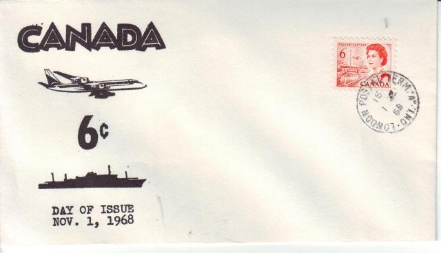 1967 - 6c Orange - Plane & Ship