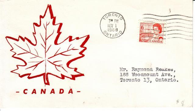 1967 - 6c Orange - Red Maple Leaf