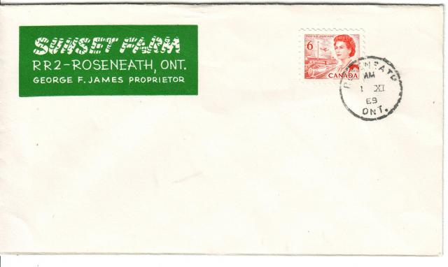 1967 - 6c Orange - Sunset Farms