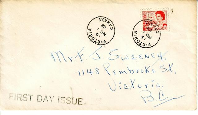1967 - 6c Orange - Sweeney