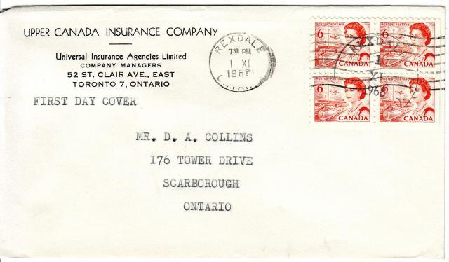 1967 - 6c Orange - Upper Canada