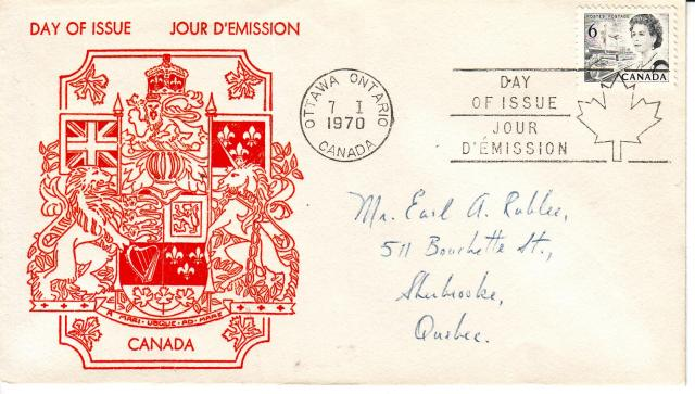 1967 - 6 Black - Crest of Canada - Red