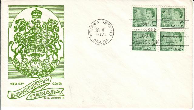 1967 - 7c Green - C. George