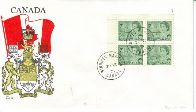 1967 - 7c Green - Cole