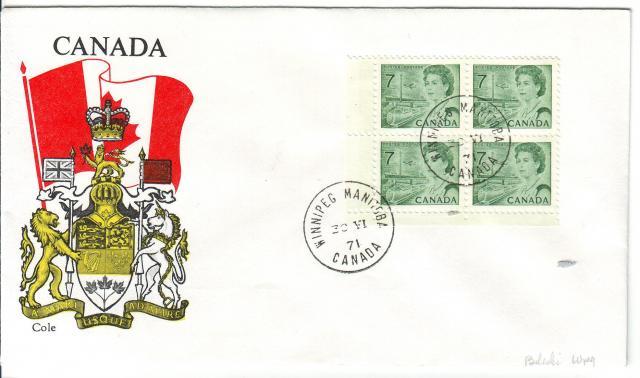 1967 - 7c Green - Cole 2