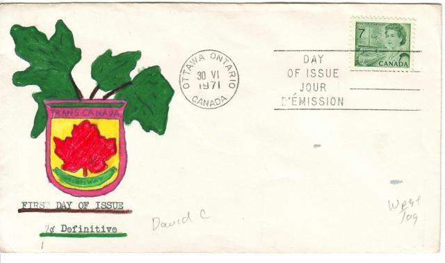 1967 - 7c Green - David C