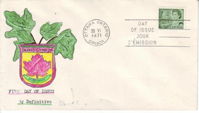 1967 - 7c Green - David C2