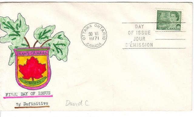 1967 - 7c Green - David C3