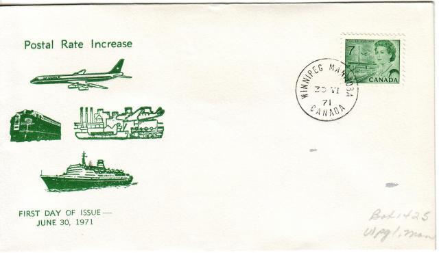 1967 - 7c Green - Winnipeg