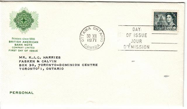 1967 - 8c Slate - B A Bank Note