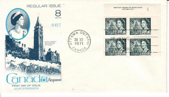 1967 - 8c Slate - Kingswood x4 P.B