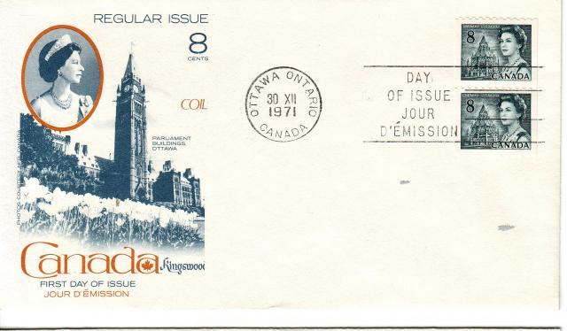 1967 - 8c Slate - Kingswood x2 Coil
