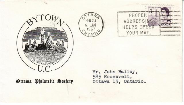 1967 - Ottawa Philatelic Society - 3c