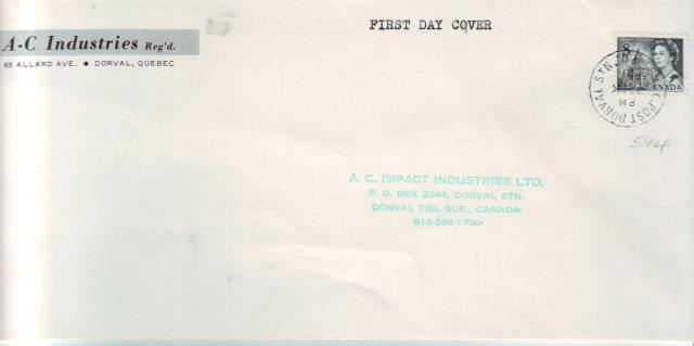 1967 - Odds & Sods - 8c Slate - A.C Industries