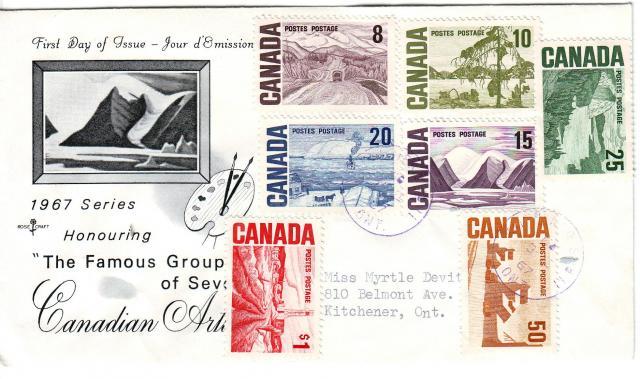 1967 - Rose Craft - Cdn Artists - Comb - 8,10,25,20,15,1.00,50