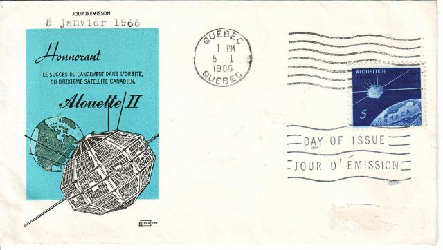 1966 - Alouette II - Harford - Analine Ink - French Cachet