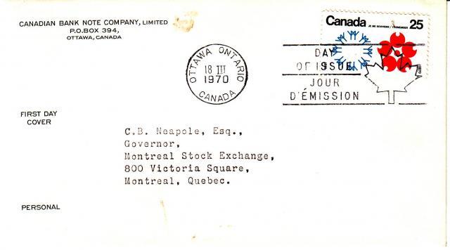 1970 - Expo 70 - Cdn Bank Note - Canada