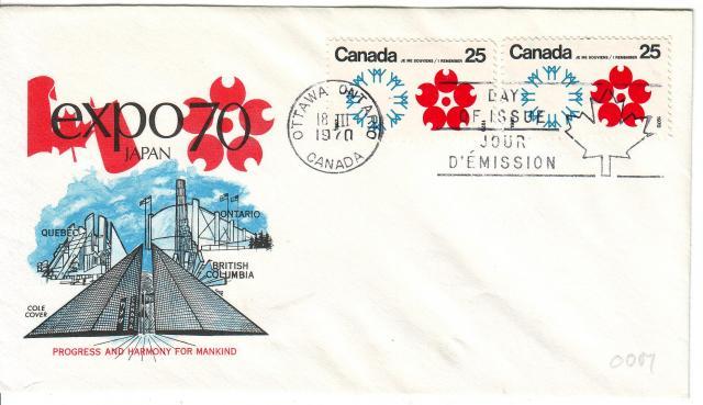 1970 - Expo 70 - Cole 2 - Canada x2