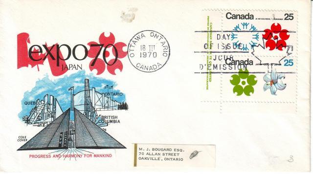 1970 - Expo 70 - Cole 2 - Corner Pair