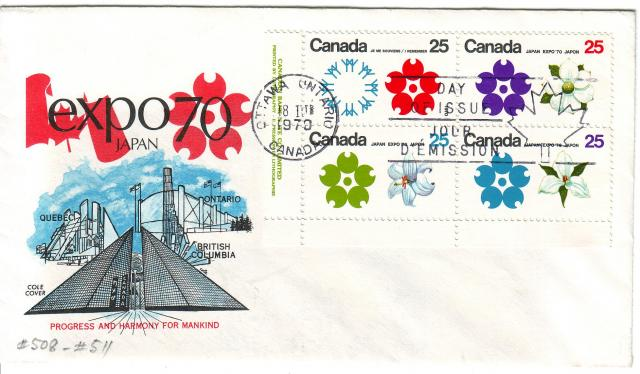 1970 - Expo 70 - Cole 2 - Plate Block
