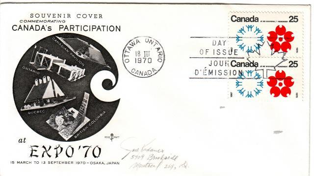 1970 - Expo 70 - Rose Craft - Canada - Vert Pair