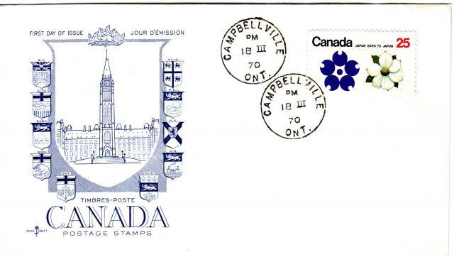 1970 - Expo 70 - Rose Craft - General Purpose -Blue Cachet - BC