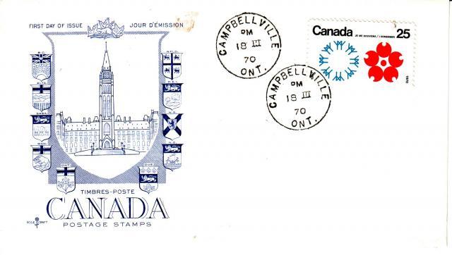 1970 - Expo 70 - Rose Craft - General Purpose -Blue Cachet - Canada