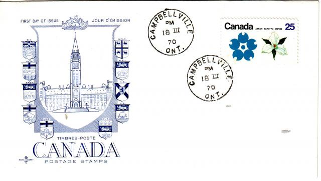 1970 - Expo 70 - Rose Craft - General Purpose -Blue Cachet - ON