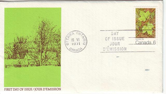 1971 - Maple Leaves - Canada Post - Summer