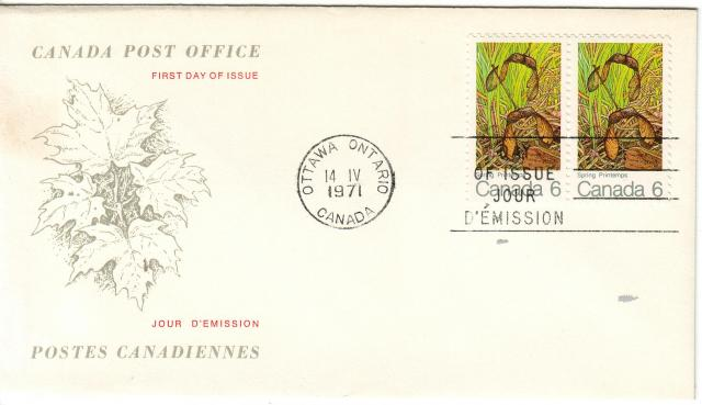 1971 - Maple Leaves - Canada Post - Replacement - Spring