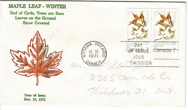 1971 - Maple Leaves - Grover - Winter