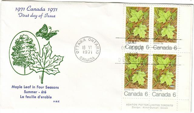1971 - Maple Leaves - H & E - Summer