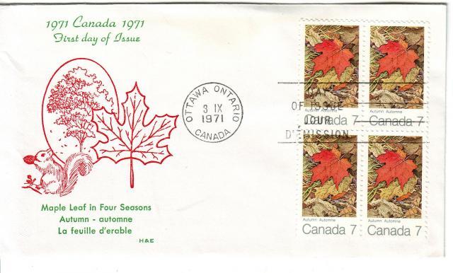 1971 - Maple Leaves - H & E - Fall