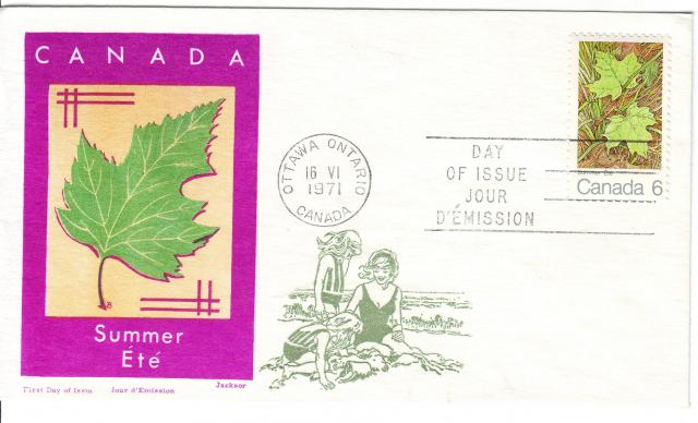 1971 - Maple Leaves - Jackson - Oversea Mailer - Summer
