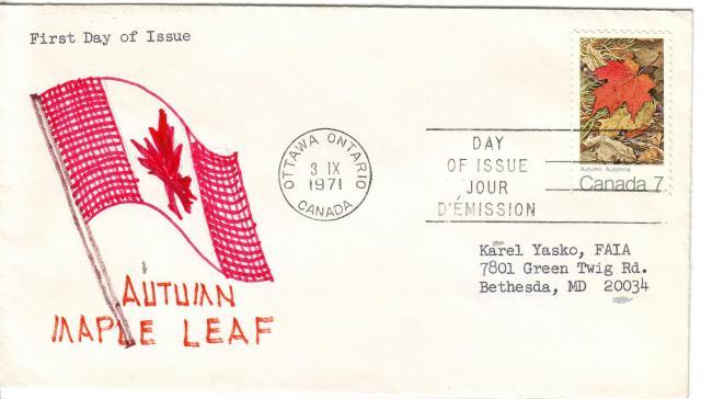1971 - Maple Leaves - K.Y. Faia - Fall