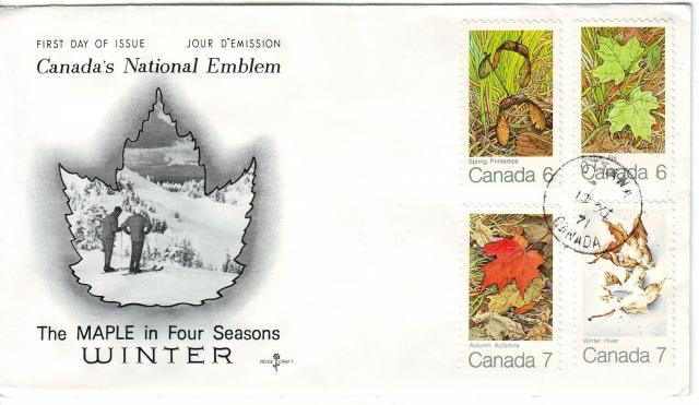 1971 - Maple Leaves - Rose Craft - Comb - 4 Seasons  - Ottawa 2