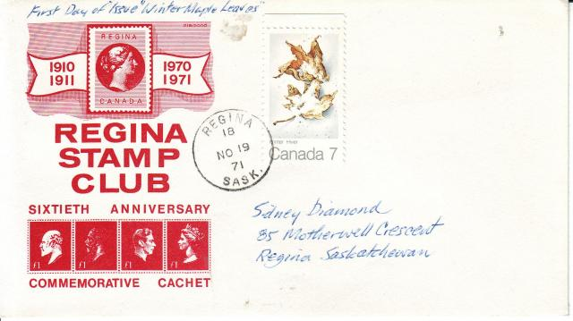 1971 - Maple Leaves - Others - Regina Stamp Club - Winter