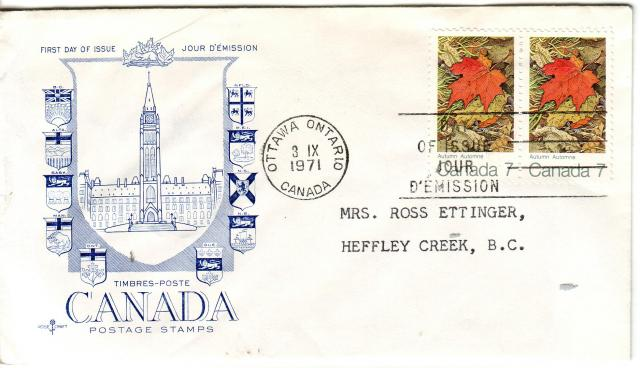 1971 - Maple Leaves - Others -Rose Craft - General Purpose - Blue - Fall