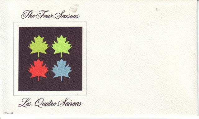 1971 - Maple Leaves - Canada Post - Envelope