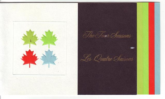 1971 - Maple Leaves - Canada Post - Folder