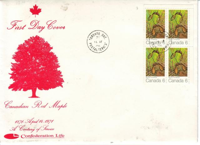 1971 - Maple Leaves - Confederation Life - Cover
