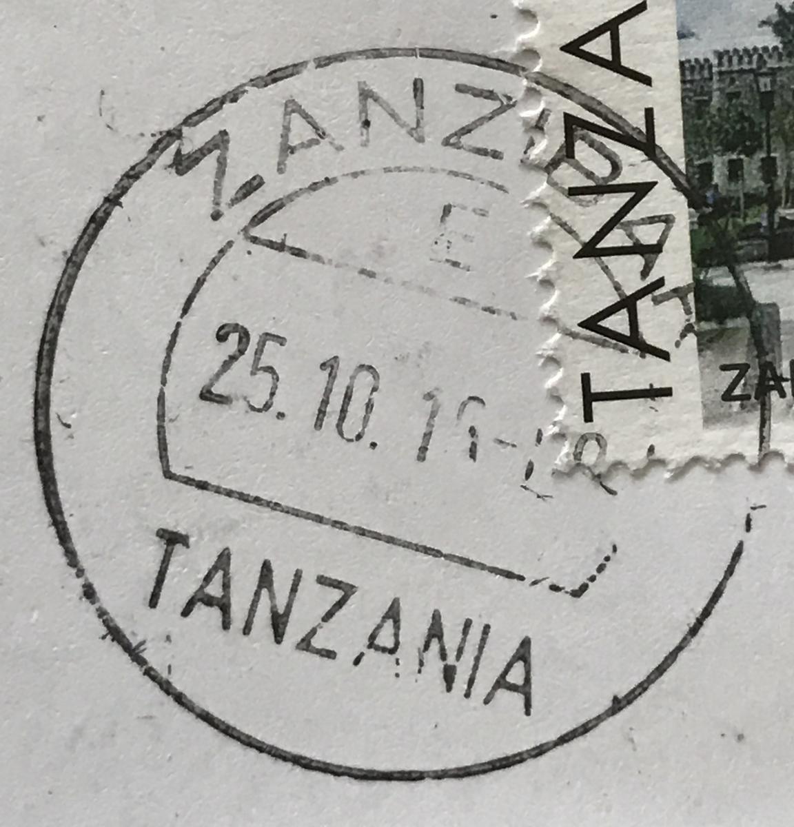 (detail) Zanzibar, Tanzania postmark cds