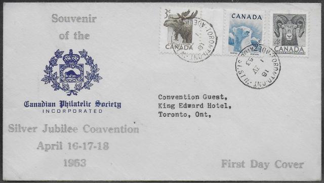1953 Toronto CPS 322 323 324 fdc
