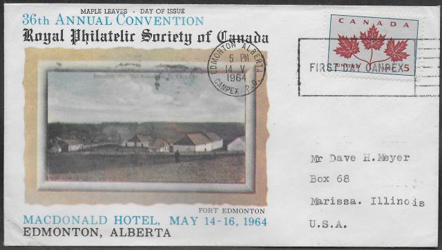 1964 Edmonton RPSC 417 fdc