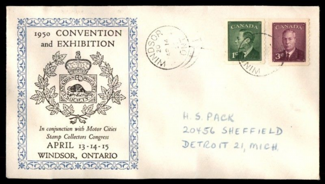 1950 Windsor CPS non-fdc