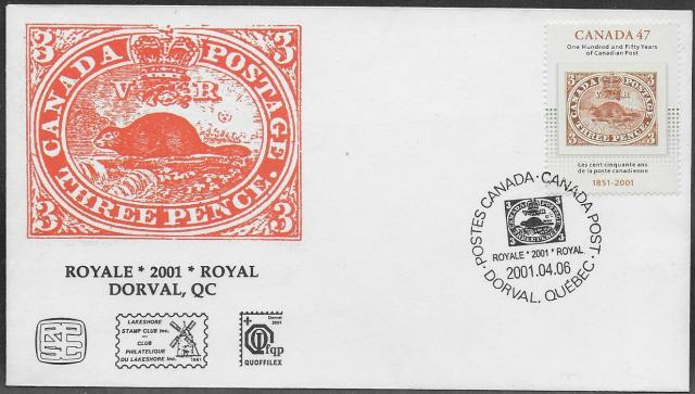 2001 Montreal RPSC 1900 fdc